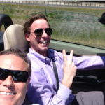Kevin Barry, FilterEasy Cofounder, seems to enjoy driving David's car on sales calls