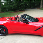 Now that David has paved his drive way Alex can drive his Ferrari over