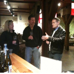 Tilt 360 founder, Pam, and David work in a winery tour while pitching in San Francisco.