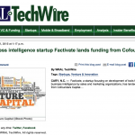 WRAL: Business intelligence startup Factivate lands funding from Cofounders Capital