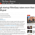 N&O: Raleigh startup FilterEasy raises more than half of $3M goal
