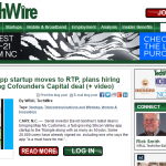 WRAL: Startup moves to RTP, plans hiring spree following CFC Deal
