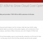 PRWEB: ParkMyCloud Raises $1.65M to Grow Cloud Cost Optimization Platform