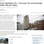 TBJ: Report: Raleigh is No. 1 'hot spot' for tech startups outside Silicon Valley