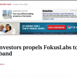 TBJ: Funding from investors propels FokusLabs to develop new wearable wristband