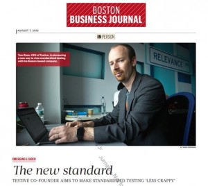 Boston Business Journal: Founder of Testive with a great quote in the BBJ - Sept 2015