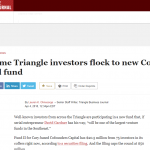TBJ- Triangle Investors Flock to CFC Fund II