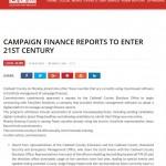EasyVote - LPR: Campaign Finance Reports To Enter 21st Century