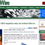 WRAL: CEO Explains why he bolted Silicon Valley