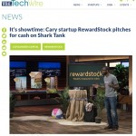 RewardStock - WRAL: It's showtime: Cary startup RewardStock pitches for cash on Shark Tank (11/18/2018)