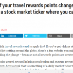 Business Insider- The value of your travel rewards points changes daily — and there's a stock market ticker where you can check the prices