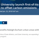 Urban Offsets helps Duke and Delta expand their sustainability program