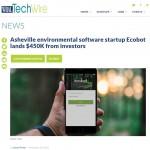 WRAL: Asheville environmental software startup Ecobot lands $450K from investors (11/16/2018)