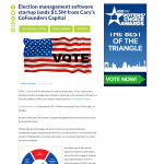 WRAL: Election Management Software Startup Lands $1.5M from Cofounders (11/5/2018)