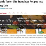 New Harris Teeter Site Translates Recipes into Shopping Lists