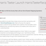 Myxx and Harris Teeter Launch HarrisTeeterRecipes.com